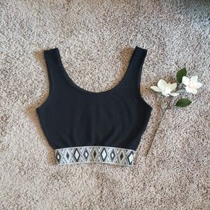 Black & White crop tank